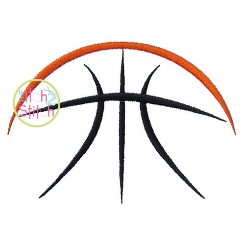 Half basketball embroidery design hoop sizes