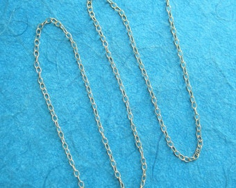 Tiny Cable Chain Necklace in Sterling Silver