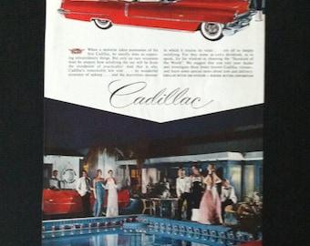 Vintage Cadillac Convertible Car Ad