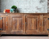 Antique Sideboard Reclaimed Indian Industrial Farm Chic Teak Wood Sideboard Buffet Media Console Vanity