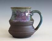 Pottery Mug, 18 oz, handmade ceramic cup, handthrown mug, stoneware mug, pottery mug, unique coffee mug, ceramics and pottery