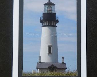 Photo Greeting Card, Yaquina Head Lighthouse, Newport OR, Blank Inside