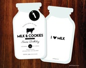 Milk and Cookies invitation - set of 15