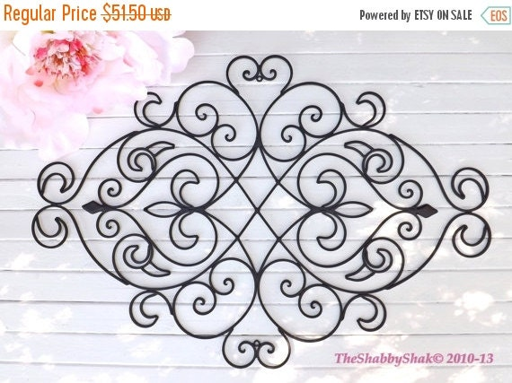 On Sale Wrought Iron Wall Decor / Black Wall By Theshabbyshak