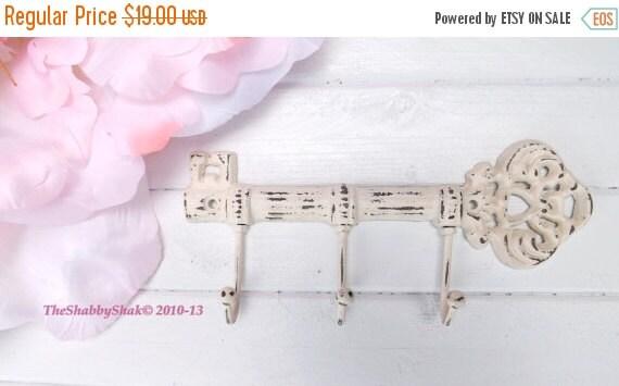 ON SALE Key Hook  / Wall Hook / Skeleton Key Rack /Iron Wall Hook /  Shabby Chic Decor
