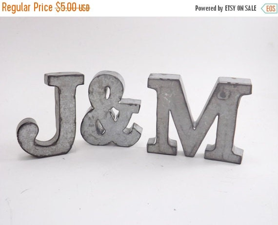 Galvanized Letters For Sale Farmhouse Lettersmetal Lettersrustic Lettersrustic Home