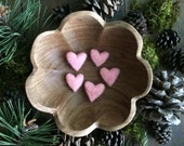 Custom listing for Lena: Felted wool heart, Light Pink