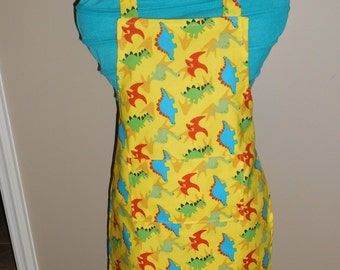 Yellow Dinosaur Child's Apron