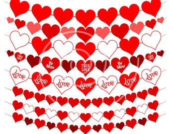 Heart clipart Valentines Day clipart Love clipart Valentine clipart Valentine clip art red Heart clip art Heart banner clipart