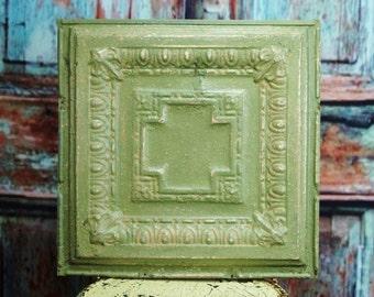 Antique Tin Ceiling Tile ~ 18 x 18 ~ salvaged
