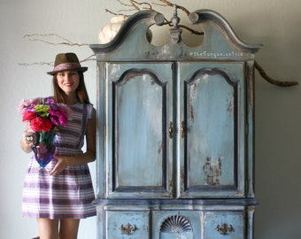 Shades of Blues Armoire No. 2 in my series titled, Perfectly Imperfect