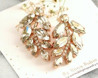 Bridal Earrings, Bridal Crystal Earrings, Drop Earrings, Swarovski Bridal Earrings, Bridesmaids Earrings, Bridal Bohemian Crystal Earrings