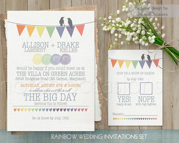 like this item - Rainbow Wedding Invitations