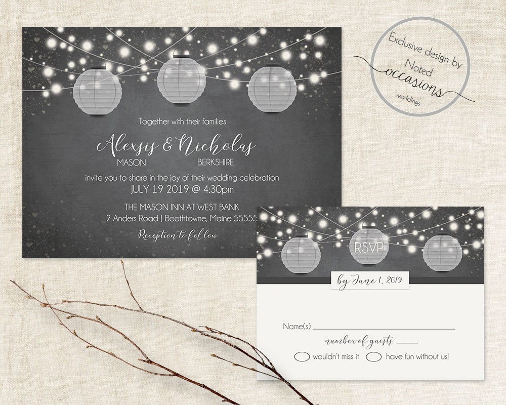 zoom - Lantern Wedding Invitations