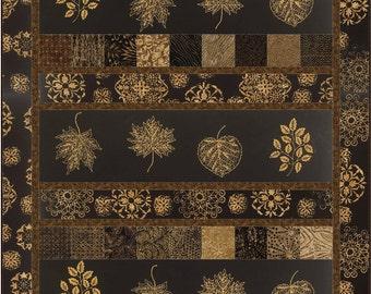 Chai Strips Quilt ePattern, 4928-1, wall quilt pattern, lap quilt, man quilt, leaves quilt, nickel friendly quilt
