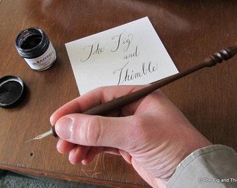 Ipe Straight Pen Holder Hand Turned Calligraphy Dip Pen