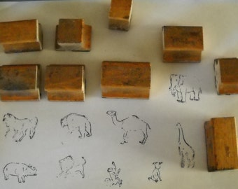 Vintage Rubber Stamps (9) - Animals