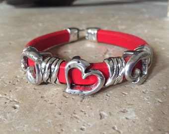 Red Licorice Leather and Hearts