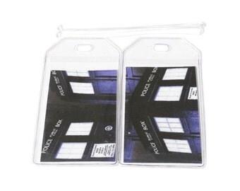 Luggage Tags Set of 2 Dr Who Tardis