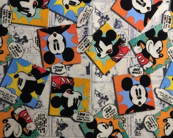 Fabric Mickey Mouse Comic Your Not the Boss of Me Gee Whiz  OOP Quilt 100% Cotton By the Fat Quarter Eustheelf 16