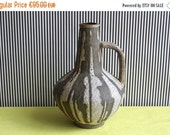 Summersale Fat Lava West German Pottery Handled Vase by Atelier Carstens Tönnieshof Designed by Gerda Heuckeroth