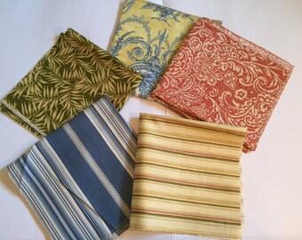 Decorator fabric samples