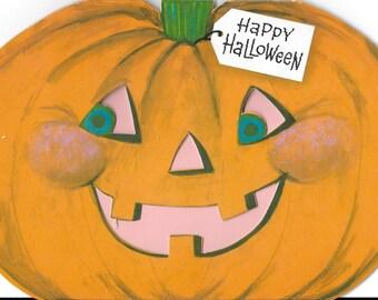 Vintage 1970's Halloween Decoration - Pumpkin