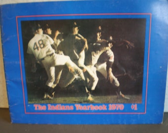 Vintage 1970's - The  Cleveland Indians Yearbook - 1970
