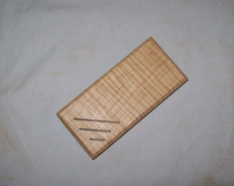 Pill box Tooth Fairy box or Whimsy box Guitar Pick Box . Tiger Maple and Walnut 2