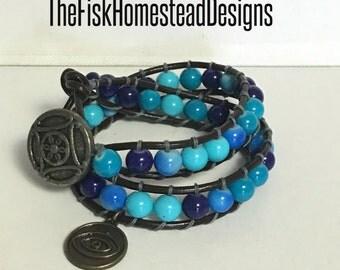 Leather Wrap Bracelet - Third Eye