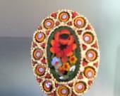 Italian Micro Mosaic Brooch / Pin