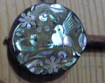 Novelty Miniature Banjo with Inlaid Mother of Pearl...c 1920