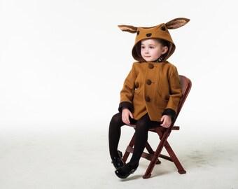 Girl's Fawn Coat Pre-Order// Bambi Coat// Girl's Winter Outerwear// Handmade Girls Clothing
