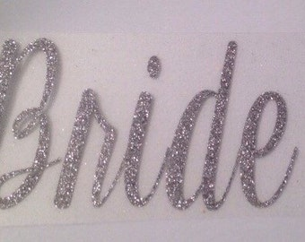 BRIDE iron-on decal - cursive