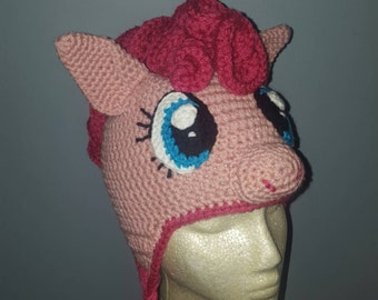 Crochet Pink Pony Hat // kid size