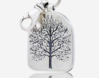 Silver Tree of Life Keychain