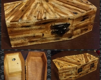 Wooden Painted Coffin Box