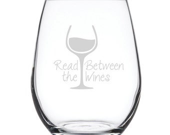 Stemless White Wine Glass-17 oz.-7850 Read Between the Wines