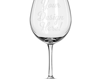 Customized Oversized Red Wine Glass-18 oz.-7635 Your Design Here