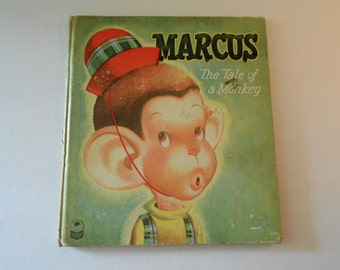 Marcus The Tale of a Monkey Cozy Corner series  1950 Whitman