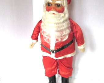 "SANTA Doll Antique German 1920s Christmas Decoration Rare original Hand painted Face 25"" Tall"