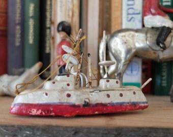 Vintage German Miniture Ship