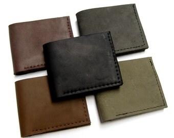 Summer Sale! 15% off - Bi-fold Handmade Turquoise Leather Wallet