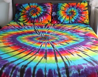 Tie dye with black accents Bed Sheet Set Twin, Twin XL, Full, Queen, or King