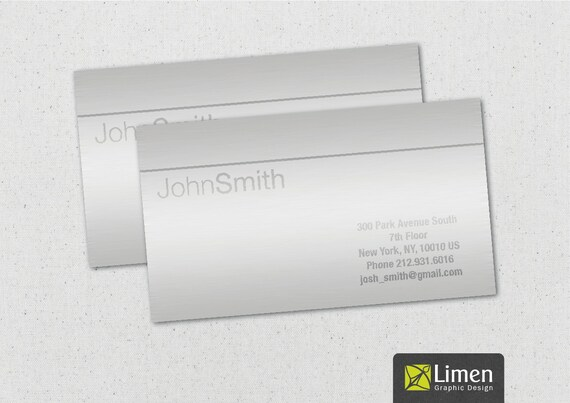 Metal business card printable business cards man business like this item reheart Choice Image