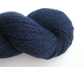 Lace Weight Cashmere Recycled Yarn, Midnight Blue, Lot 150116