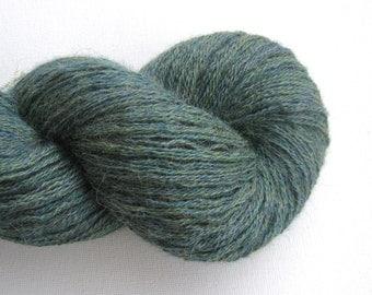 Sport Weight Recycled Alpaca Yarn, Ocean Green, Lot 050816