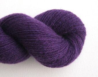 Lace Weight Cashmere Recycled Yarn, Purple Plum, 600 Yards, Lot 040216
