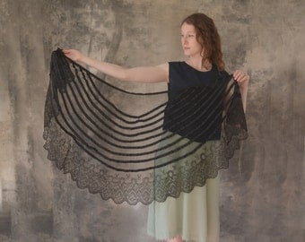 Edwardian Black Shawl