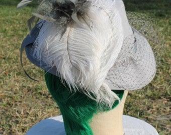SALE SALE SALE!!  Grey veiled Victorian style riding hat